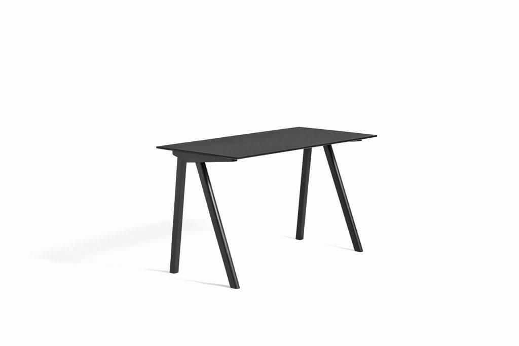 1010952019000_CPH90 Desk L130xW65_Black stained oak base_Black lino